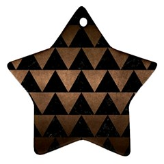 Triangle2 Black Marble & Bronze Metal Star Ornament (two Sides) by trendistuff