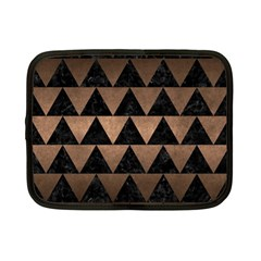 Triangle2 Black Marble & Bronze Metal Netbook Case (small) by trendistuff
