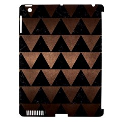 Triangle2 Black Marble & Bronze Metal Apple Ipad 3/4 Hardshell Case (compatible With Smart Cover) by trendistuff
