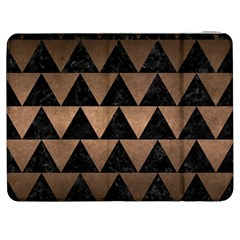 Triangle2 Black Marble & Bronze Metal Samsung Galaxy Tab 7  P1000 Flip Case by trendistuff