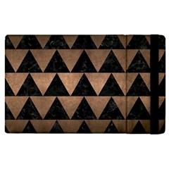 Triangle2 Black Marble & Bronze Metal Apple Ipad Pro 12 9   Flip Case by trendistuff