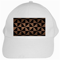Triangle1 Black Marble & Bronze Metal White Cap by trendistuff