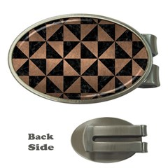 Triangle1 Black Marble & Bronze Metal Money Clip (oval) by trendistuff