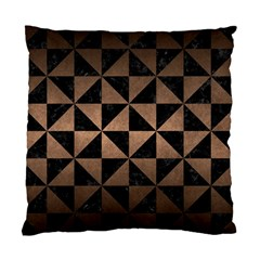 Triangle1 Black Marble & Bronze Metal Standard Cushion Case (one Side) by trendistuff