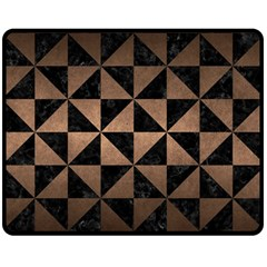 Triangle1 Black Marble & Bronze Metal Double Sided Fleece Blanket (medium) by trendistuff