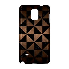 Triangle1 Black Marble & Bronze Metal Samsung Galaxy Note 4 Hardshell Case by trendistuff