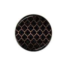 Tile1 Black Marble & Bronze Metal Hat Clip Ball Marker (4 Pack) by trendistuff