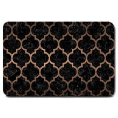 Tile1 Black Marble & Bronze Metal Large Doormat by trendistuff