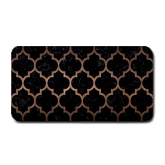 Tile1 Black Marble & Bronze Metal Medium Bar Mat by trendistuff