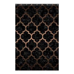 Tile1 Black Marble & Bronze Metal Shower Curtain 48  X 72  (small) by trendistuff