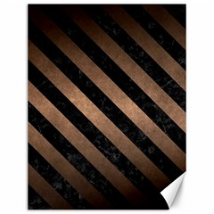 Stripes3 Black Marble & Bronze Metal (r) Canvas 12  X 16  by trendistuff