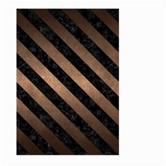 Stripes3 Black Marble & Bronze Metal (r) Large Garden Flag (two Sides) by trendistuff