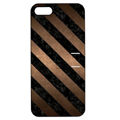 Stripes3 Black Marble & Bronze Metal (r) Apple Iphone 5 Hardshell Case With Stand by trendistuff
