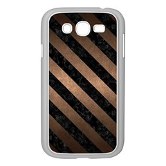Stripes3 Black Marble & Bronze Metal (r) Samsung Galaxy Grand Duos I9082 Case (white) by trendistuff