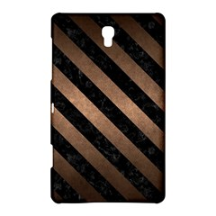 Stripes3 Black Marble & Bronze Metal (r) Samsung Galaxy Tab S (8 4 ) Hardshell Case  by trendistuff