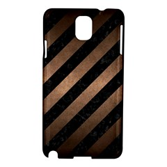 Stripes3 Black Marble & Bronze Metal Samsung Galaxy Note 3 N9005 Hardshell Case by trendistuff
