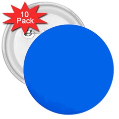 Azure 3  Buttons (10 Pack)  by SimplyColor