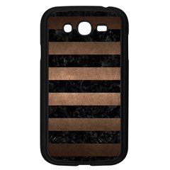 Stripes2 Black Marble & Bronze Metal Samsung Galaxy Grand Duos I9082 Case (black) by trendistuff