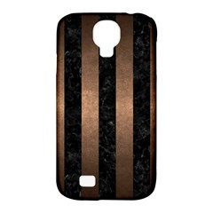 Stripes1 Black Marble & Bronze Metal Samsung Galaxy S4 Classic Hardshell Case (pc+silicone) by trendistuff