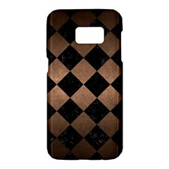 Square2 Black Marble & Bronze Metal Samsung Galaxy S7 Hardshell Case  by trendistuff