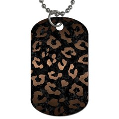 Skin5 Black Marble & Bronze Metal (r) Dog Tag (two Sides) by trendistuff