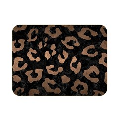 Skin5 Black Marble & Bronze Metal (r) Double Sided Flano Blanket (mini) by trendistuff