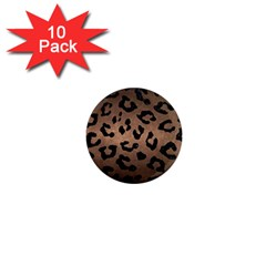 Skin5 Black Marble & Bronze Metal 1  Mini Magnet (10 Pack)  by trendistuff