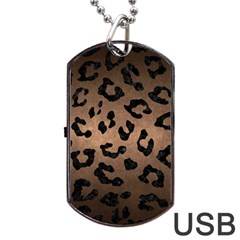 Skin5 Black Marble & Bronze Metal Dog Tag Usb Flash (one Side) by trendistuff