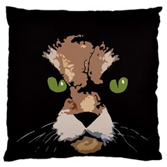 Cat  Large Cushion Case (two Sides)