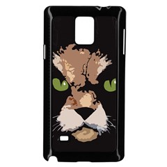 Cat  Samsung Galaxy Note 4 Case (black) by Valentinaart