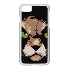 Cat  Apple Iphone 7 Seamless Case (white) by Valentinaart