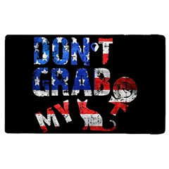 Dont Grab My Apple Ipad 2 Flip Case by Valentinaart