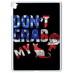 Dont Grab My Apple Ipad Pro 9 7   White Seamless Case by Valentinaart