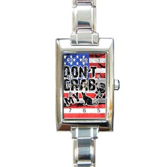 Dont Grab My Rectangle Italian Charm Watch by Valentinaart