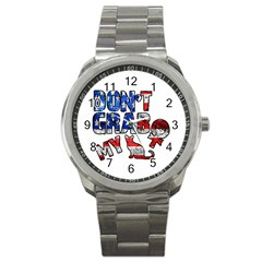 Dont Grab My Sport Metal Watch by Valentinaart