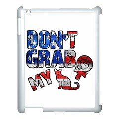 Dont Grab My Apple Ipad 3/4 Case (white) by Valentinaart