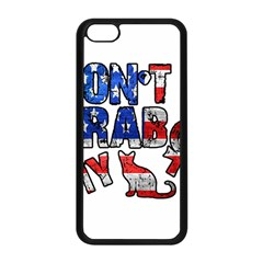 Dont Grab My Apple Iphone 5c Seamless Case (black) by Valentinaart