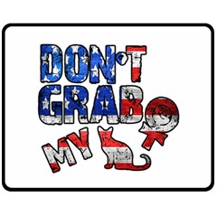 Dont Grab My Double Sided Fleece Blanket (medium)  by Valentinaart