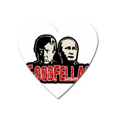 Goodfellas Putin And Trump Heart Magnet by Valentinaart