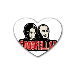 Goodfellas Putin And Trump Heart Coaster (4 Pack)  by Valentinaart