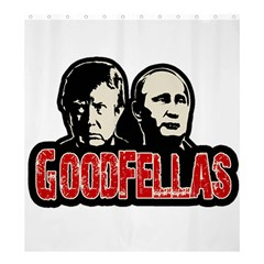 Goodfellas Putin And Trump Shower Curtain 66  X 72  (large)  by Valentinaart
