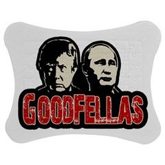 Goodfellas Putin And Trump Jigsaw Puzzle Photo Stand (bow) by Valentinaart