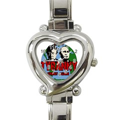 Make Tyranny Great Again Heart Italian Charm Watch
