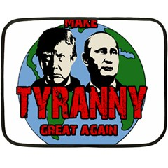 Make Tyranny Great Again Double Sided Fleece Blanket (mini)  by Valentinaart