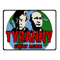 Make Tyranny Great Again Fleece Blanket (small) by Valentinaart