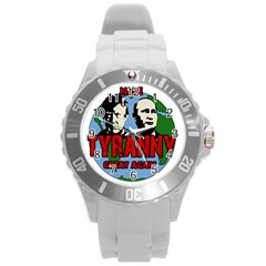 Make Tyranny Great Again Round Plastic Sport Watch (l)