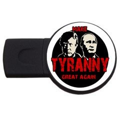 Make Tyranny Great Again Usb Flash Drive Round (4 Gb) by Valentinaart