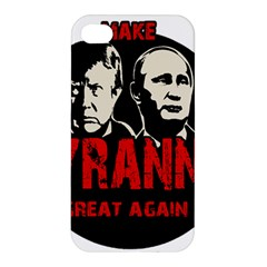 Make Tyranny Great Again Apple Iphone 4/4s Premium Hardshell Case by Valentinaart