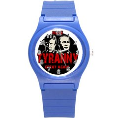 Make Tyranny Great Again Round Plastic Sport Watch (s) by Valentinaart