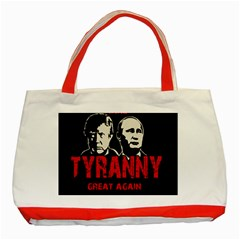 Make Tyranny Great Again Classic Tote Bag (red) by Valentinaart